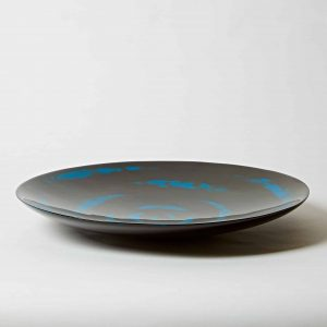 Decorative Lacquer Plate, Blue