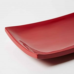 Sushi Plate, High Gloss Lacquer, Red