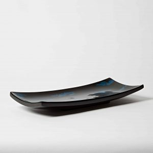 Sushi Plate, High Gloss Lacquer, Blue