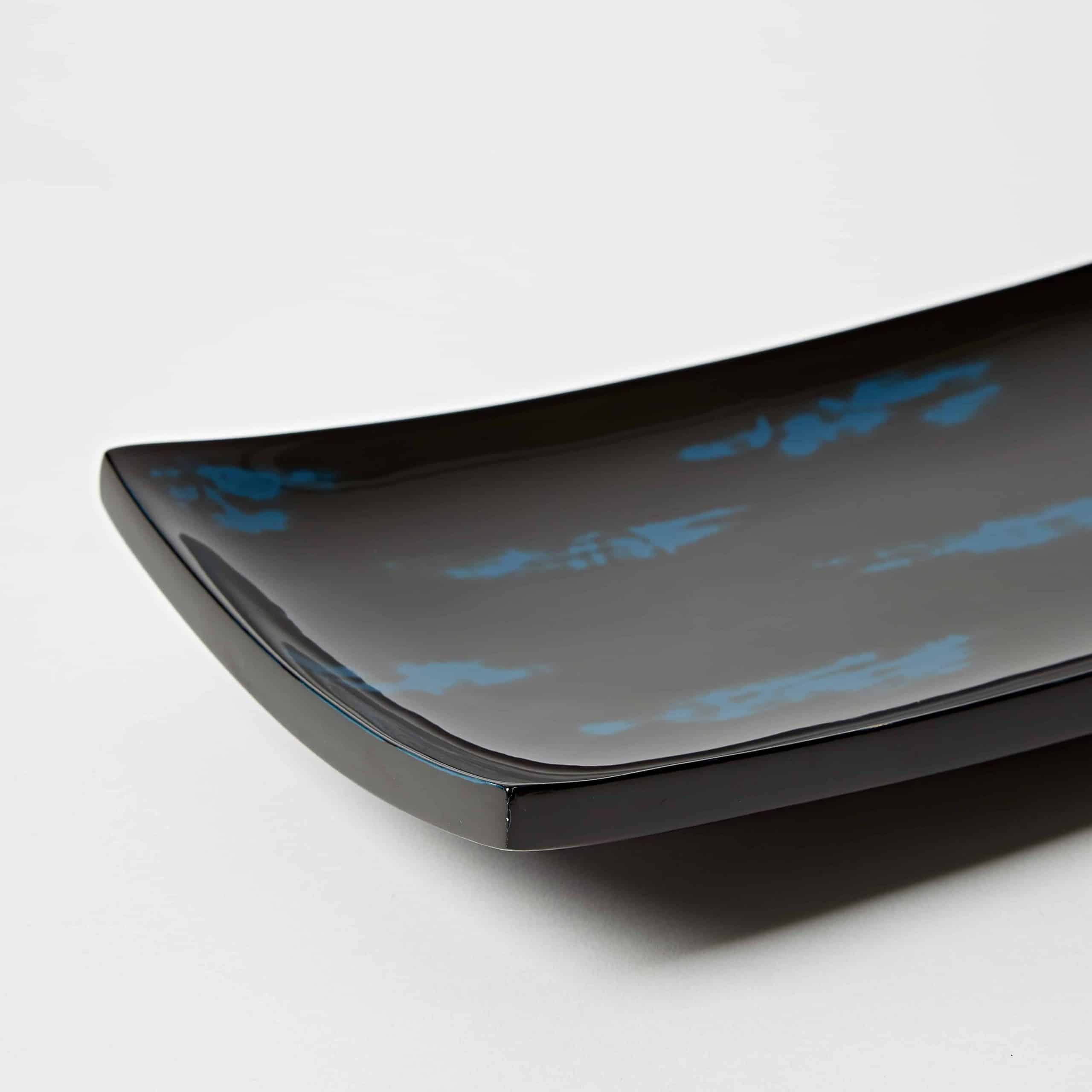 Blue Sushi Plate Lacquer