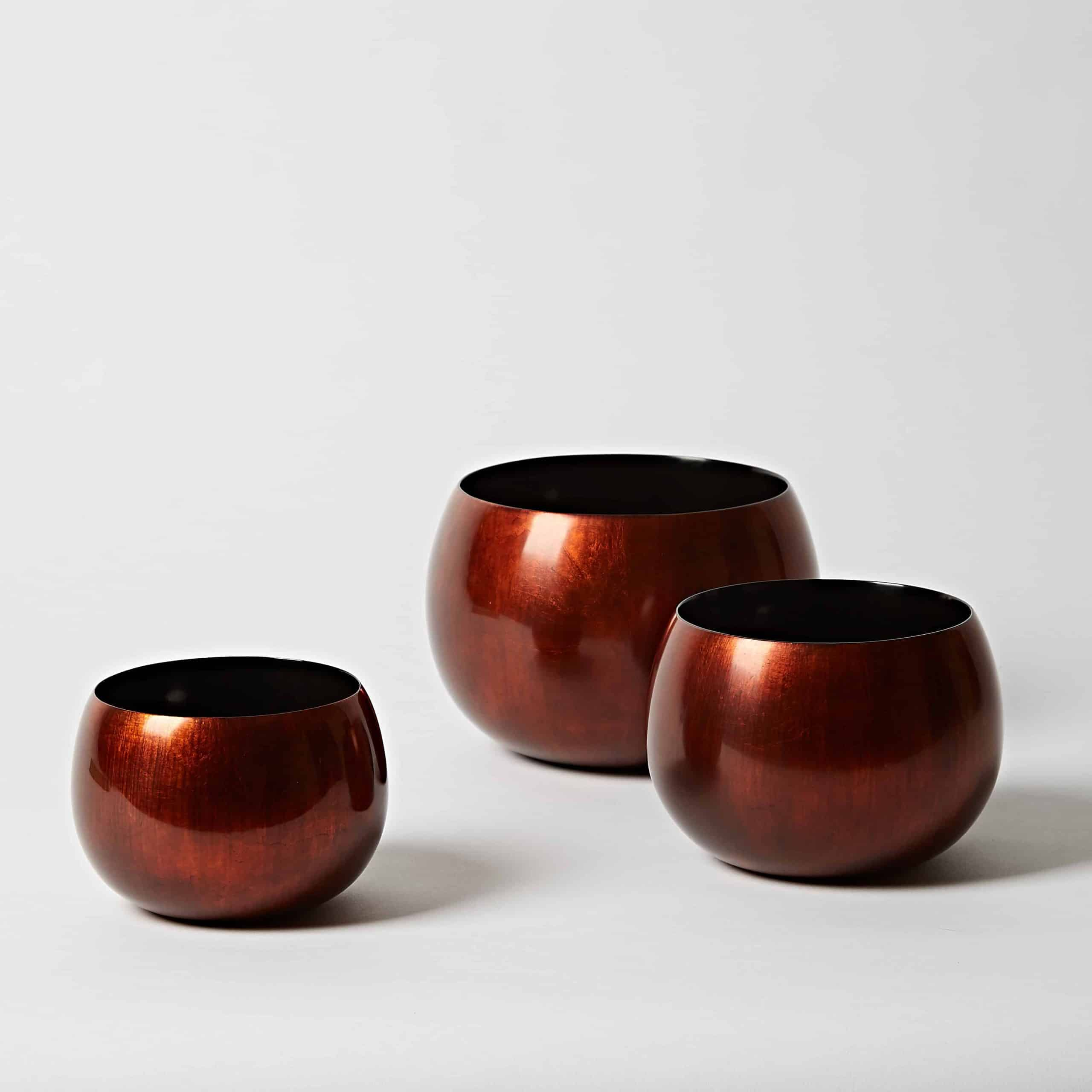 Coper lacquer bowl collection