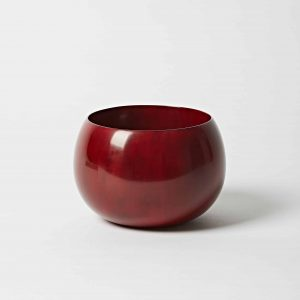 Red Bowl, High Gloss Lacquer, Large