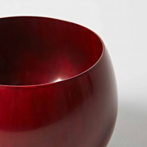 Red Bowl, High Gloss Lacquer, Medium