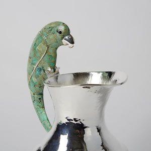 Jarrita Parrot, Green, Fluted, 2L