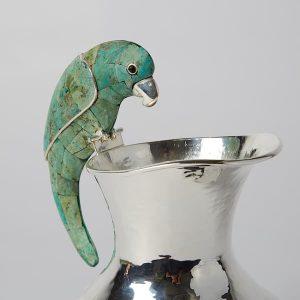 Jarrita Parrot, Green, Fluted, 1L