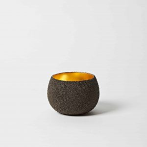 Black Sand, Gold Leaf Bowl, Small