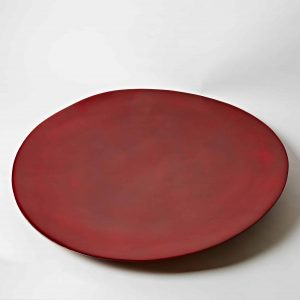 Decorative Lacquer Plate, Red, Extra Large