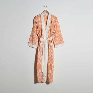 Hand-woven Cotton Dressing Gown, Yellow