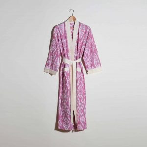 Hand-woven Cotton Dressing Gown, Red