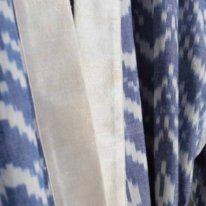 Hand-woven Cotton Dressing Gown, Blue