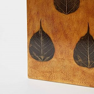Leaf Artwork – 3 Black Leaves